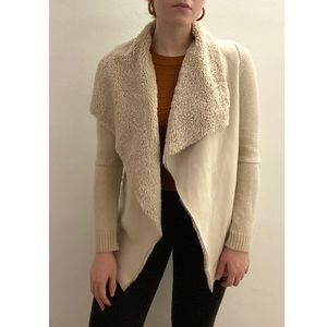 Rome+Juliet Couture Faux Fur, Suede, Knit Cardigan